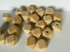 Natural wooden beads - Geometric - 10mm