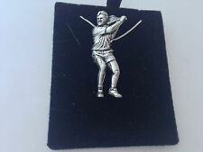 S8   Tennis Player on a 925 sterling silver Necklace Handmade 26 inch chain