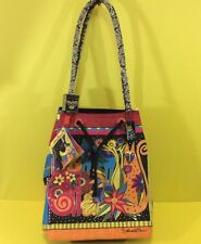 NEW ✅ LAUREL BURCH LARGE CANVAS TOTE BAGS Cats & Birds Sun & Sand