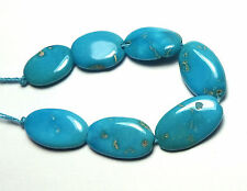 7 pcs SLEEPING BEAUTY TURQUOISE 13-16mm Oval Beads NATURAL COLOR /o8