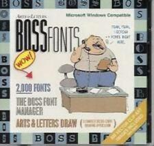 Arts & Letters: Boss Fonts PC CD 2000 drawing clip art images manager postscript