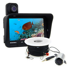 "Underwater 30M Fish Finder Sea/Ice Dual Fishing 2 Camera Cam 4.3"" HD Monitor"