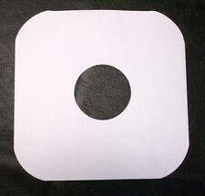 10 Brand New Record LP 12'' Inner Sleeves White Paper Die-cut - FREE SHIPPING