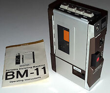 SONY SECUTIVE PORTABLE CASSETTE RECORDER WALKMAN DICTAPHONE BM-11 VINTAGE 1973