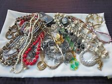 Huge Lot Vintage Jewelry Necklaces Earrings Pins Bracelets Sets Some Signed 32
