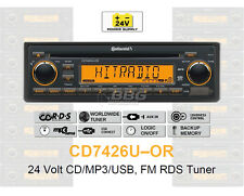 24 voltios camión radio RDS-tuner CD mp3 WMA USB Truck bus 24v cd7426u-or (cd7326u-or)