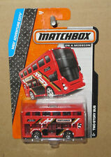 MATCHBOX RED TWO STORY DOUBLE DECKER EURO STYLE BUS ROUTE MASTER