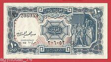 EGYPT , 10 PIASTRES  SIGN. ABDEL HAMID EL-SHERIF 1954 HIGH GRADE , RARE