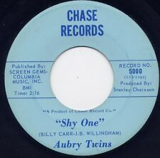 """Super Rare - AUBRY TWINS - """"SHY ONE"""" b/w """"I WON'T SHARE YOUR LOVE"""" on CHASE (M-)"""