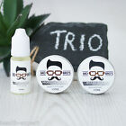 Mo Bro's Beard & Moustache Grooming Essential Trio - 1 x Wax, 1 x Balm & 1 x Oil