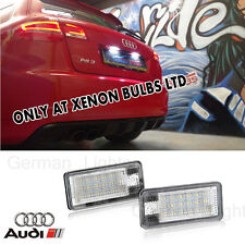 2 x AUDI A3 04-12 NUMBER PLATE UNIT LED CANBUS ERROR FREE Module resistor can
