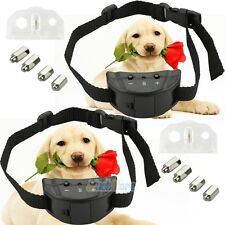2x Anti Bark No Barking Shock Control Training Collar for Small Medium Pet Dog