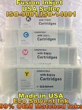 compatible 4 pc Epson SureColor s30670 s50670 s70670 eco solvent ink cartridge g