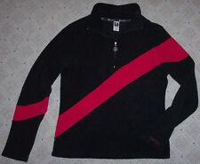 BURTON FLEECE JACKET - Black/Dark Gray & Neon Pink Stripe - WOMENS Medium M EUC