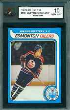1979 80 TOPPS #18 WAYNE GRETZKY RC ROOKIE CARD KSA 10 GEM MINT