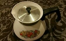 Corning ware P-104 Teapot Meadow 6 cup coffee pot complete