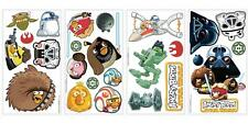 New ANGRY BIRDS STAR WARS WALL DECALS Kids Bedroom Playroom Stickers Great Gifts