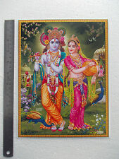 "Murlidhar Lord KRISHNA with Radha - Normal Paper POSTER (9""x11"")"