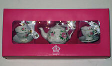 royal albert mini TEA SET  ORNAMENTS  TEAPOT CUPS/ SAUCERS SET/3  NEW/ BOXED