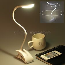 Portable LED Flexible Book Reading Light Clip Bed Table Desk Lamp Recharge