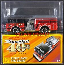 2009 Matchbox Superfast #17 Pierce® Dash® Fire Truck RED/BERNALILLO COUNTY/MIB