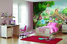 Gigante Mural de Pared Foto Wallpaper Princess Palacio Mascotas Disney Niñas Dormitorio Decoración