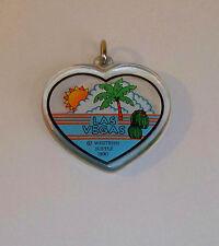 Las Vegas Key Chain 1990 Western Supply Heart Shape