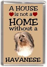 """Havanese Dog Fridge Magnet """"A HOUSE IS NOT A HOME"""" by Starprint"""