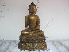 11.5 Tibet Buddhism Dragon Sakyamuni Buddha Bronze Shakyamuni Statue