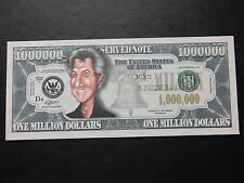 Dustin Hoffman $1 Million Dollar Note Novedad Bill $1,000,000 actor Rain Man Nuevo