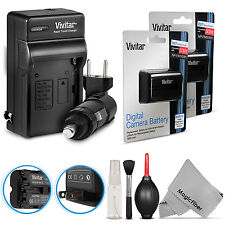 2 Vivitar NP-FM500H Battery + Charger for Sony Alpha SLT A57 A58 A77 II A99 A700