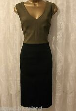 Karen Millen Structured Textured Contrast Shift Party Fit Pencil Dress 6 34