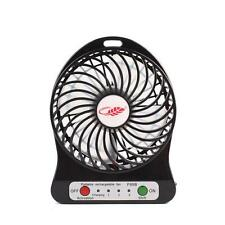 Portable Rechargeable LED Fan Air Cooler Mini Operated Desk USB 18650 Battery AS