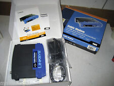 New (old stock) Linksys BEFCMU10 USB/Ethernet Cable Modem, AC, cables w/warranty