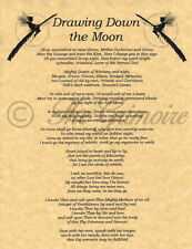 Drawing Down the Moon, Book of Shadows Spell Page, Witchcraft, Wicca, Charmed