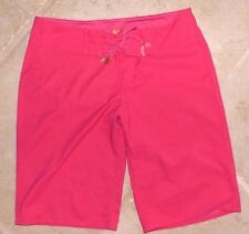 EUC Junior's Woman's Small Juicy Couture Beach Hot Pink Long Swim Board Shorts