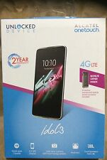 "NEW! ALCATEL OneTouch Idol 3 Global Unlocked 4G LTE Smartphone 16GB  4.7"" HD IPS"