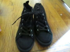 Ladies Old Navy Black Canvas - Nylon High-Tops Shoes size 7