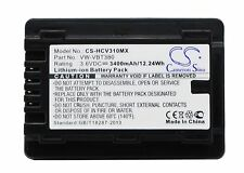 3.6V Battery for Panasonic HC-V110 HC-V130 HC-V520M VW-VBT380 Premium Cell