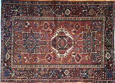 Handsome Heriz - 1920s Antique Karaja Rug - Tribal Persian Carpet - 4.8 x 6.6 ft