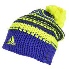 adidas Performance Womens Chunky Knit Pompom Beanie Winter Bobble Ski Hat