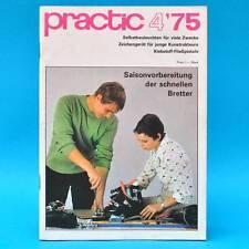 DDR practic 4/1975 Zeichengerät Außenfilter Teppichknüpfen Klebepistole Moped F