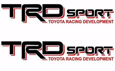 TRD Vinyl Decal /Vinyl Stickers 1 PAIR BLACK / RED Graphics Toyota Sport Racing