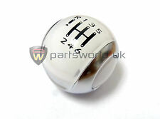 Brand new Genuine Citroen DS3 Arctic white & satin chrome 6 speed gear knob