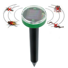 Solar Power Ultrasonic Mosquito Mole Snake Mouse Pest Killer Repeller Control UK