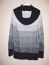 Fashion Bug Womens Size L Multi-Color Cowl Neckline Sweater Long Sleeves