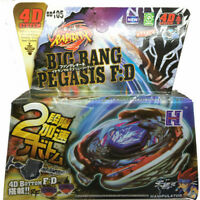 Hot Beyblade Metal Fusion Flight Big Bang Pegasis F:D BB-105 4D System Launcher
