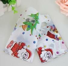 50pcs Christmas Gift Bags Jewelry Packaging Gift Pouches Plastic 15X9cm NEW
