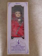 "Little red riding hood poupée en porcelaine 17"" tall, regency sp 'l edition collector"