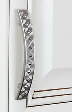 "81393-SN - 3-3/4"" CC Diamond Cabinet Hardware Pull Handle Dresser - Satin Nickel"